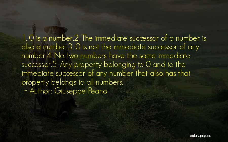 0-8-4 Quotes By Giuseppe Peano