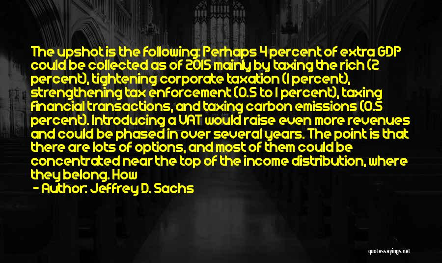 0-8-4 Quotes By Jeffrey D. Sachs