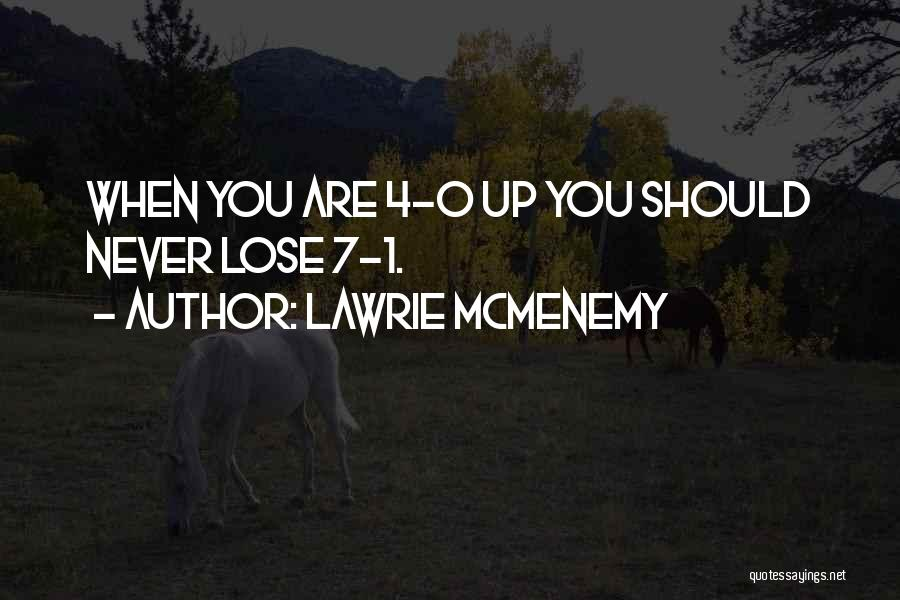 0-8-4 Quotes By Lawrie McMenemy