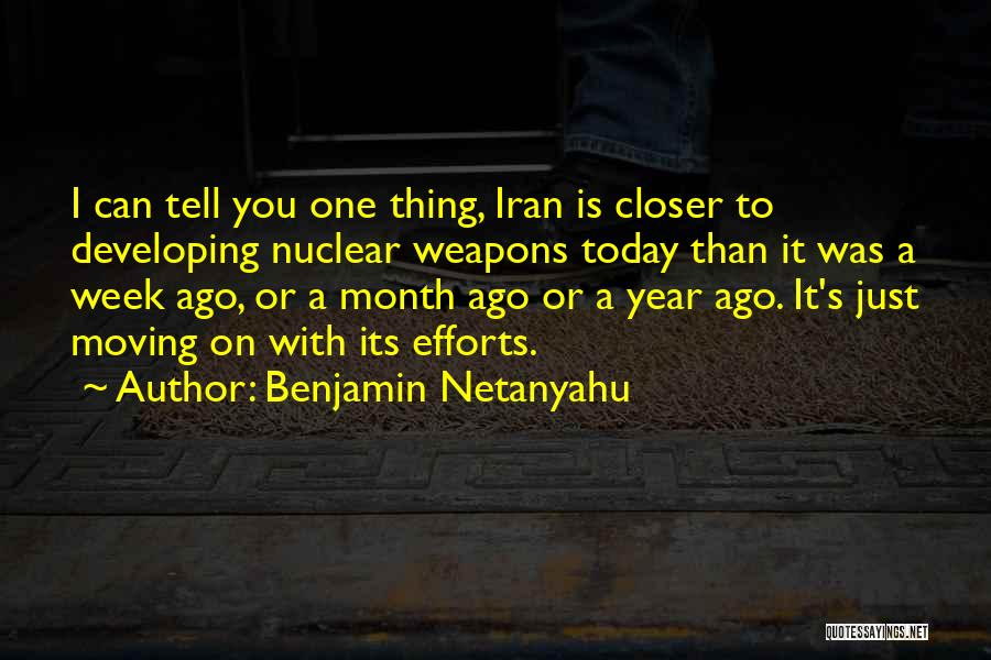 1 Year Ago Today Quotes By Benjamin Netanyahu
