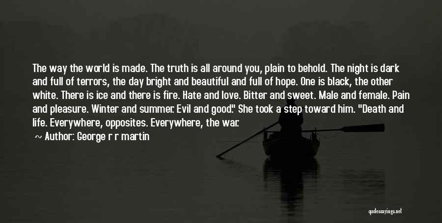 George R R Martin Quotes: The Way The World Is Made. The Truth Is All Around You, Plain To Behold. The Night Is Dark And