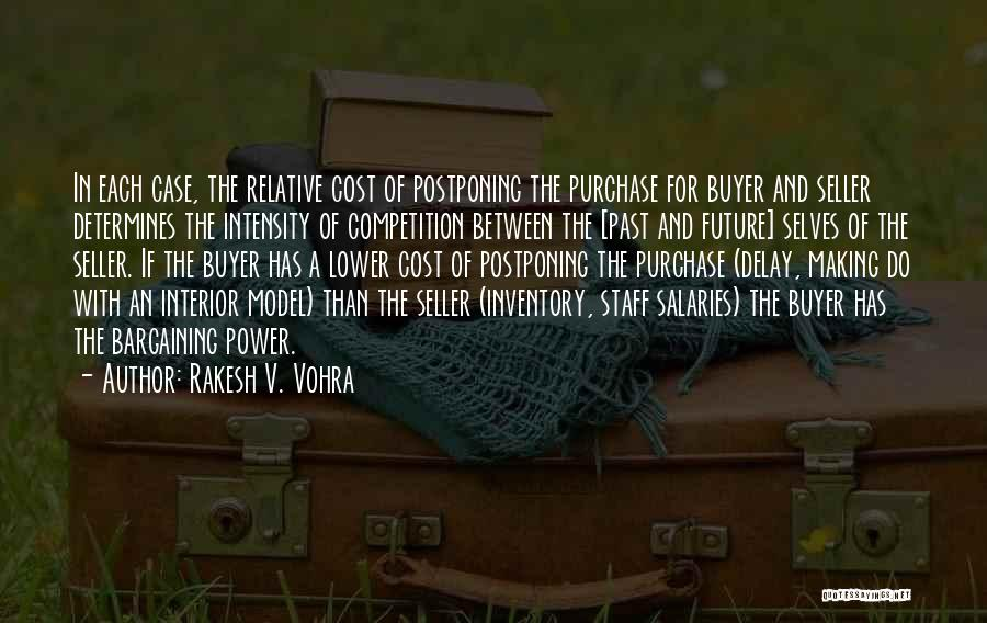 Rakesh V. Vohra Quotes: In Each Case, The Relative Cost Of Postponing The Purchase For Buyer And Seller Determines The Intensity Of Competition Between