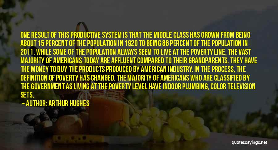 Arthur Hughes Quotes: One Result Of This Productive System Is That The Middle Class Has Grown From Being About 15 Percent Of The