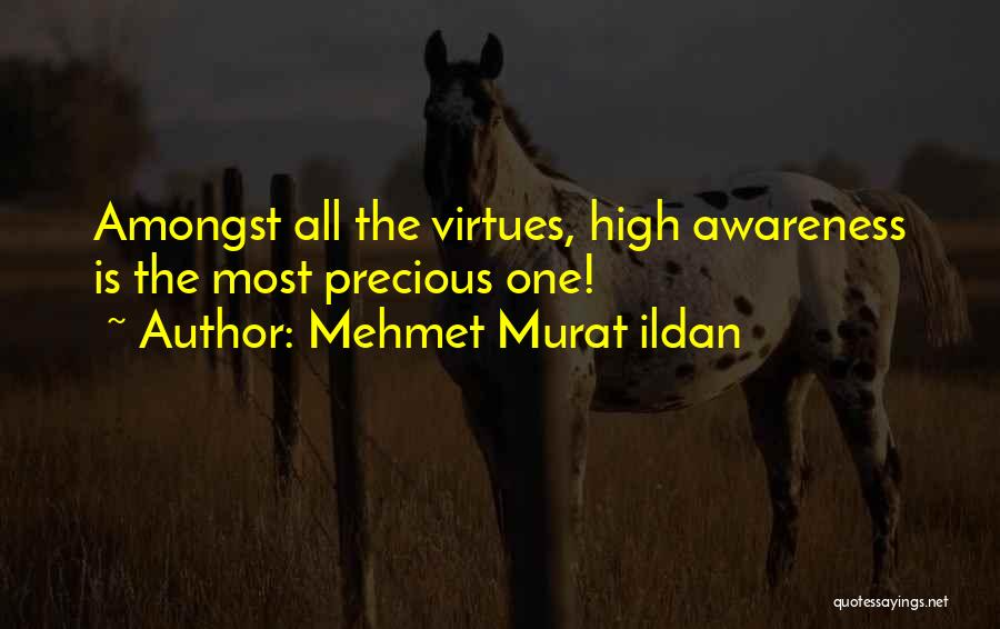 Mehmet Murat Ildan Quotes: Amongst All The Virtues, High Awareness Is The Most Precious One!