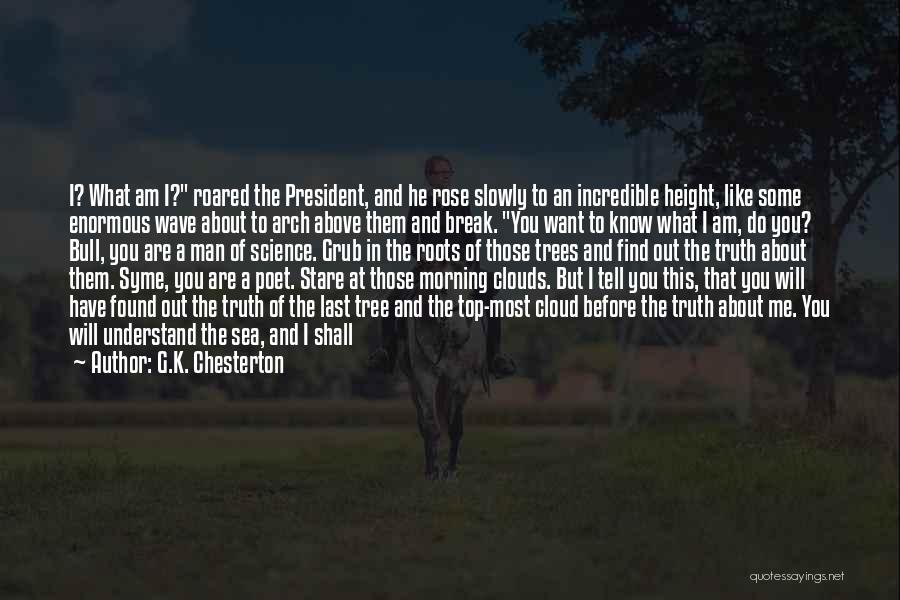 G.K. Chesterton Quotes: I? What Am I? Roared The President, And He Rose Slowly To An Incredible Height, Like Some Enormous Wave About
