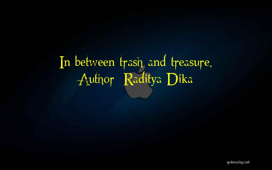 raditya dika quotes in between trash and treasure