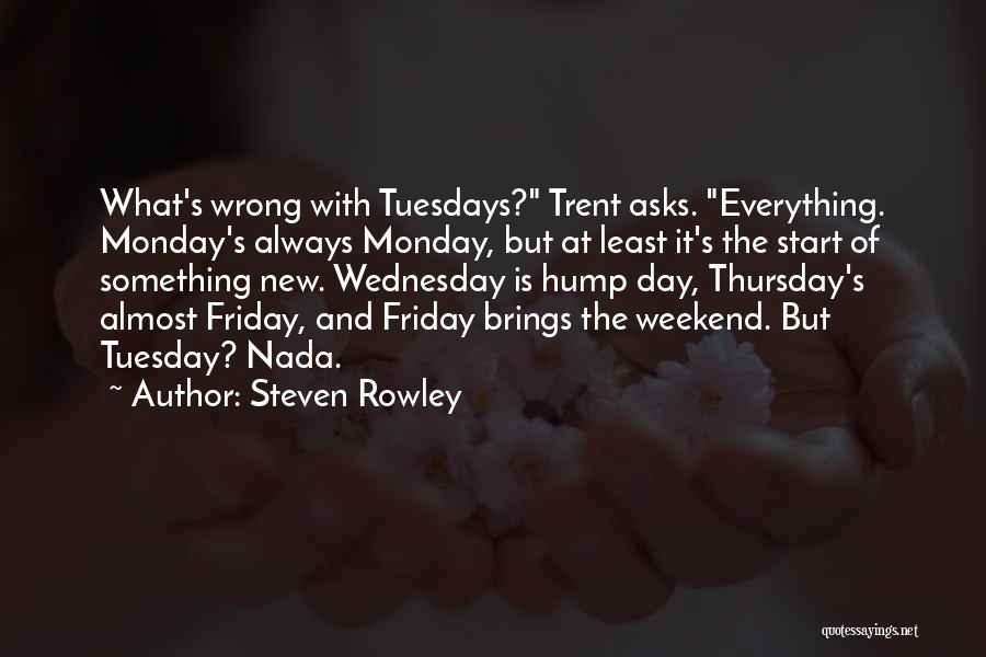 steven rowley quotes what s wrong tuesdays trent asks