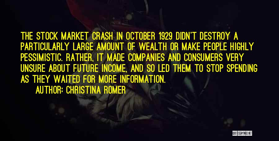 1929 Stock Quotes By Christina Romer