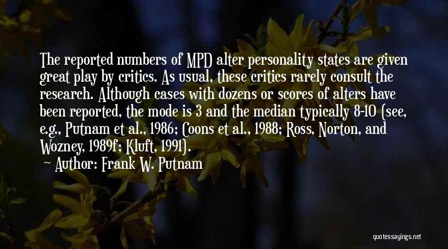 1988 Quotes By Frank W. Putnam