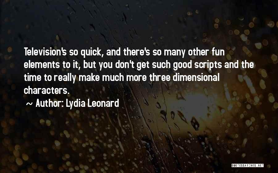 2 Dimensional Quotes By Lydia Leonard