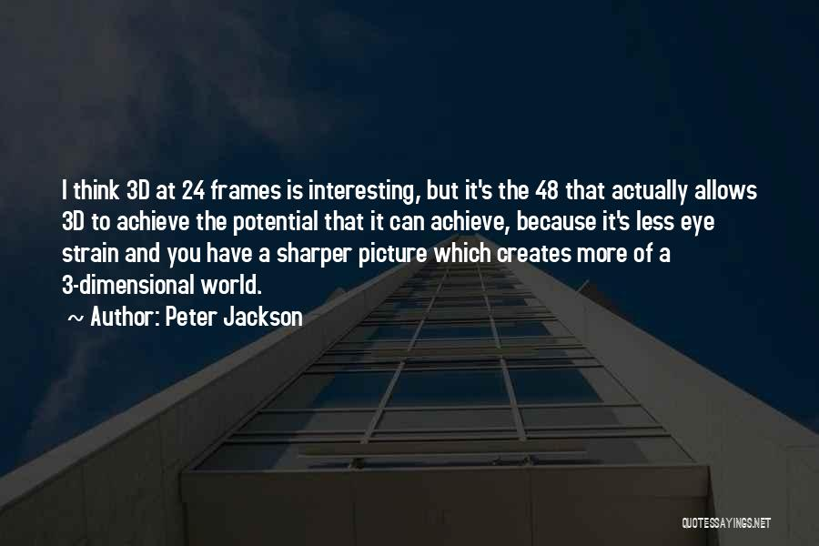 2 Dimensional Quotes By Peter Jackson