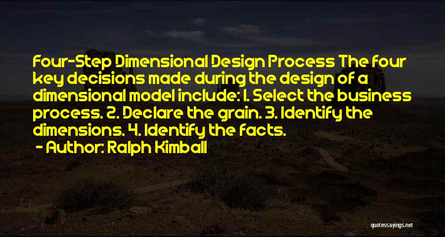 2 Dimensional Quotes By Ralph Kimball