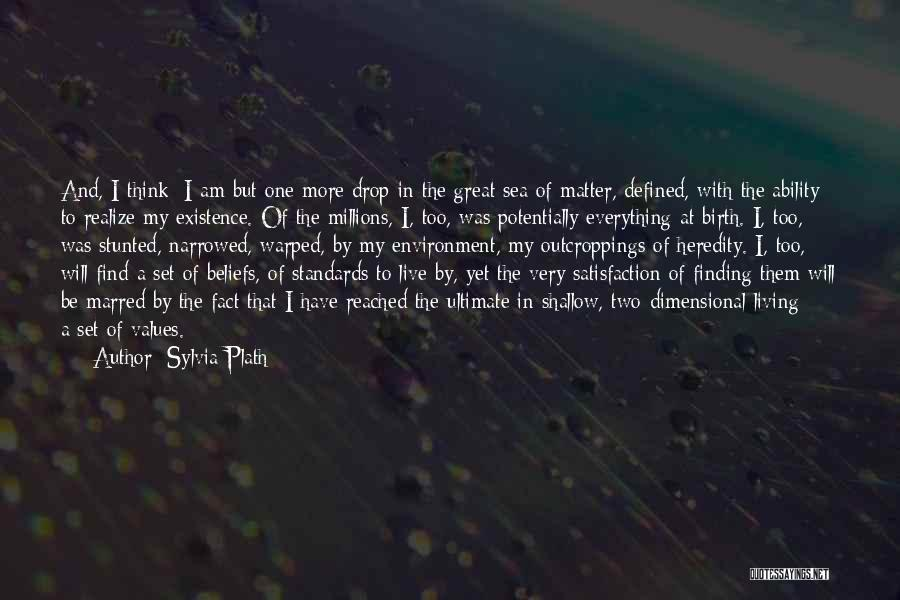 2 Dimensional Quotes By Sylvia Plath