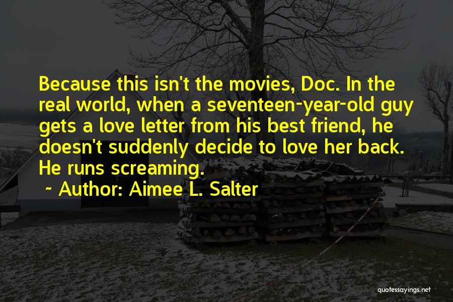 2 Or 3 Letter Quotes By Aimee L. Salter