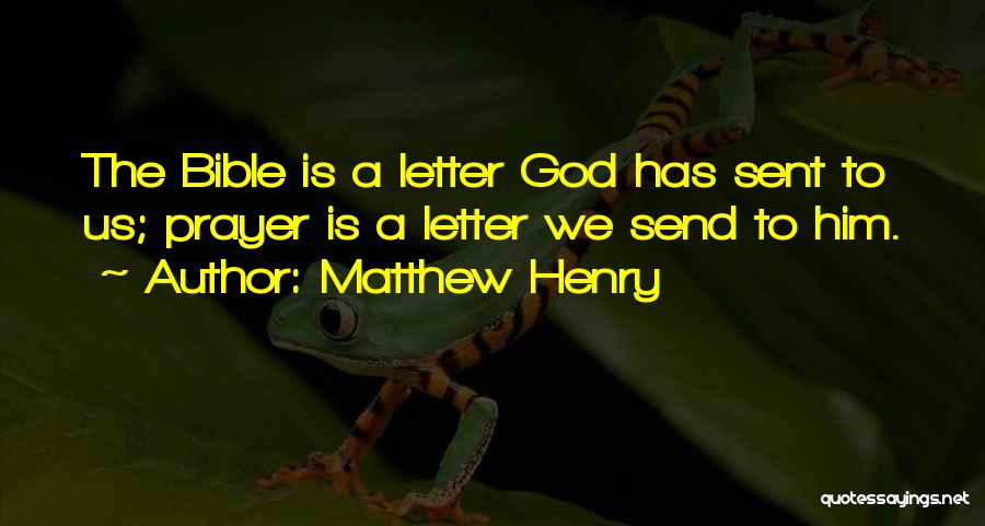 2 Or 3 Letter Quotes By Matthew Henry