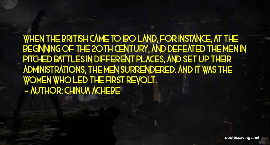 20th Century Quotes By Chinua Achebe