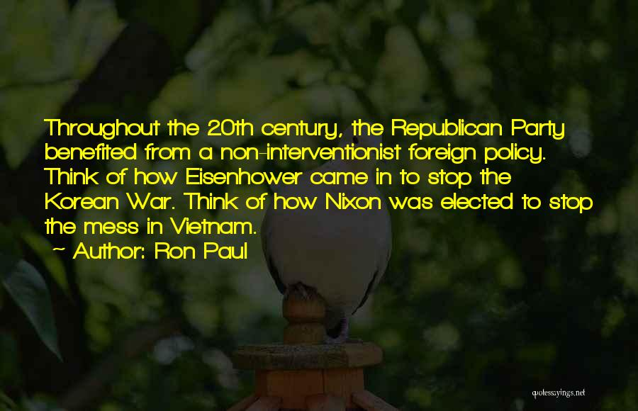 20th Century Quotes By Ron Paul