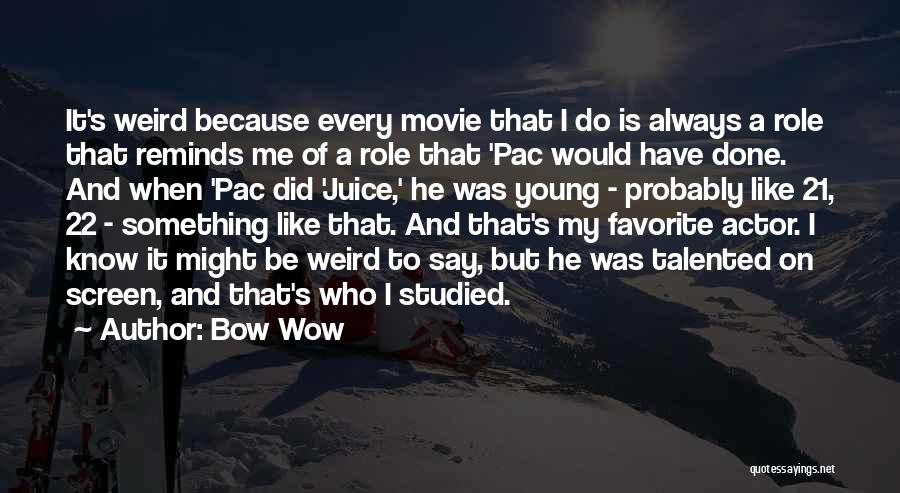 21 Best Movie Quotes By Bow Wow