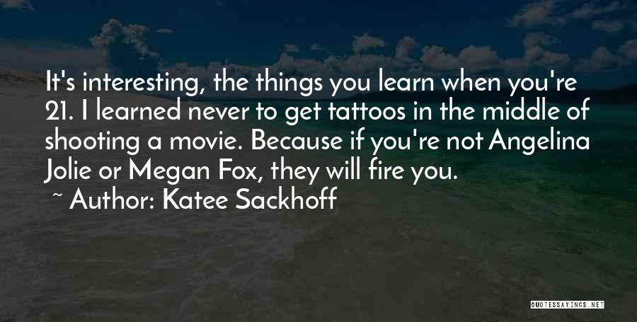 21 Best Movie Quotes By Katee Sackhoff