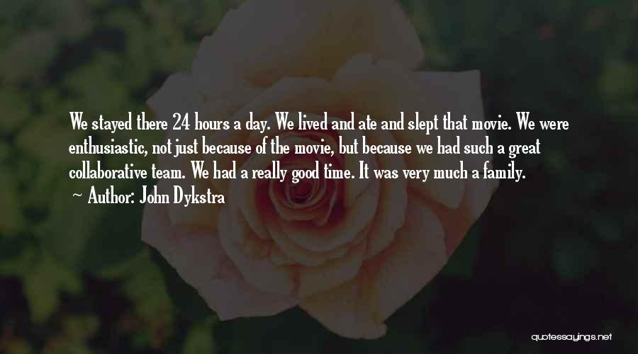 24 7 Movie Quotes By John Dykstra