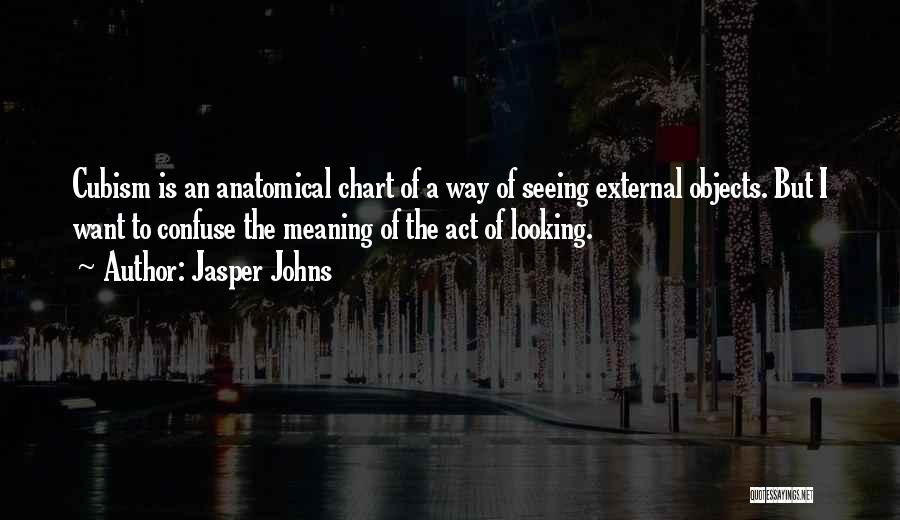 Jasper Johns Quotes: Cubism Is An Anatomical Chart Of A Way Of Seeing External Objects. But I Want To Confuse The Meaning Of
