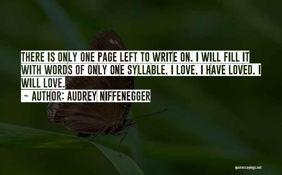 5 Syllable Quotes By Audrey Niffenegger