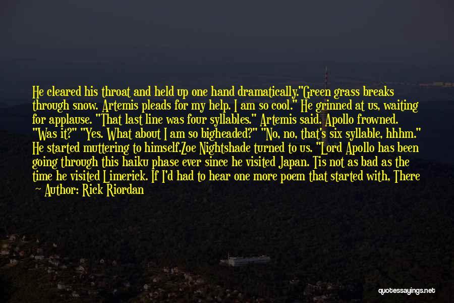 5 Syllable Quotes By Rick Riordan
