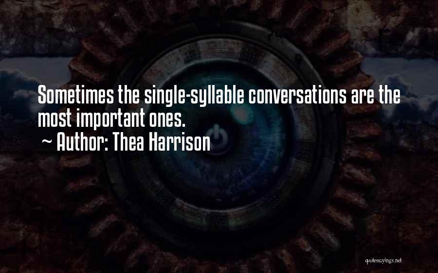 5 Syllable Quotes By Thea Harrison