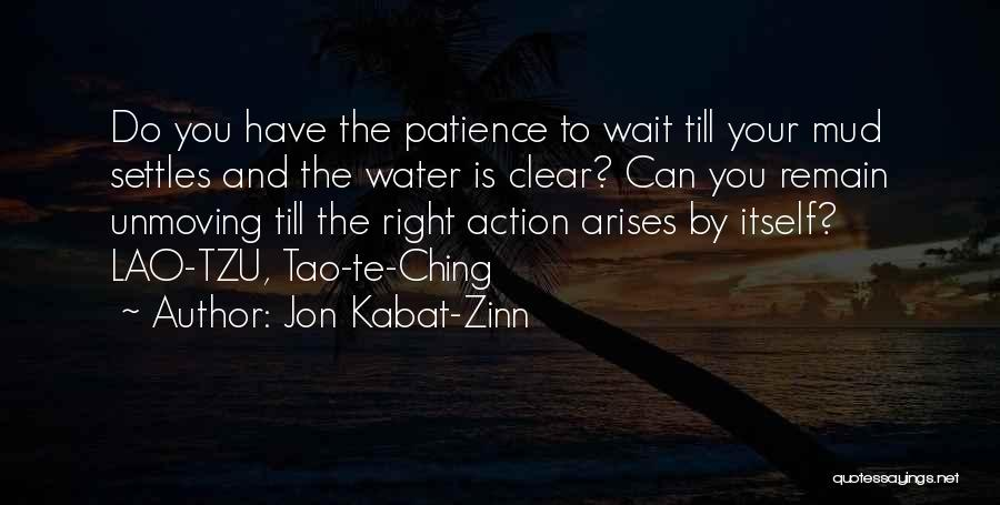 Jon Kabat-Zinn Quotes: Do You Have The Patience To Wait Till Your ...