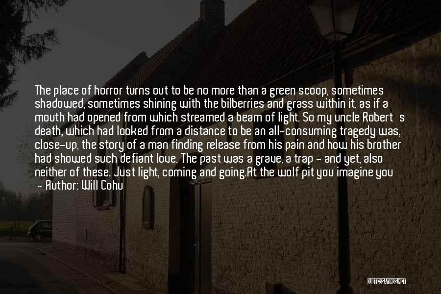 Will Cohu Quotes: The Place Of Horror Turns Out To Be No More Than A Green Scoop, Sometimes Shadowed, Sometimes Shining With The