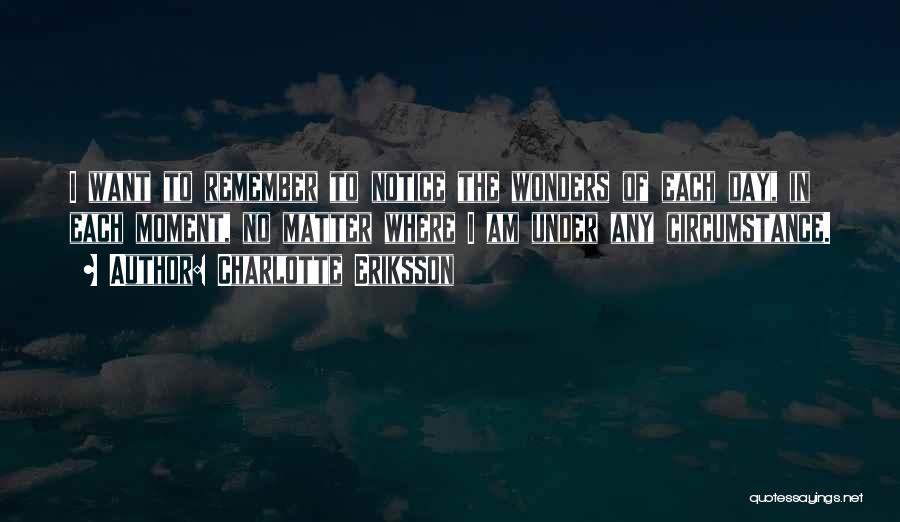7 Wonders Of The World Quotes By Charlotte Eriksson