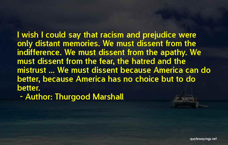 thurgood marshall quotes i wish i could say that racism and