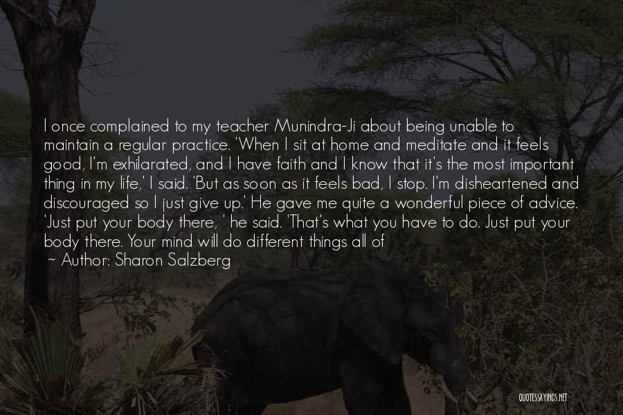A Bad Teacher Quotes By Sharon Salzberg