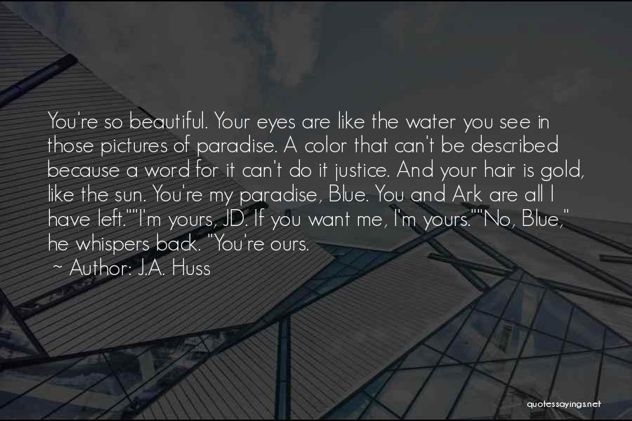 A Beautiful Eyes Quotes By J.A. Huss
