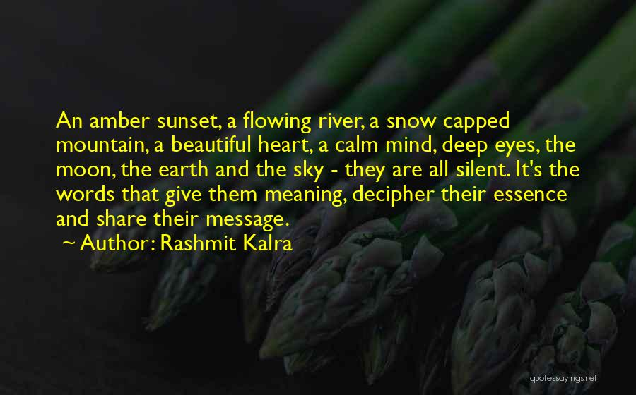 A Beautiful Eyes Quotes By Rashmit Kalra