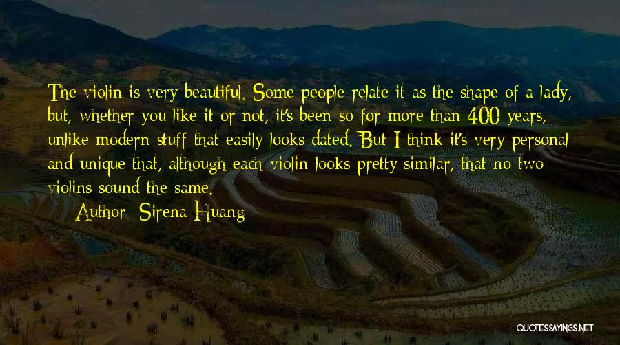 A Beautiful Lady Quotes By Sirena Huang