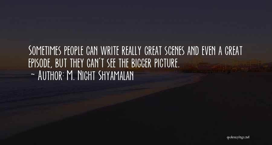 A Bigger Picture Quotes By M. Night Shyamalan