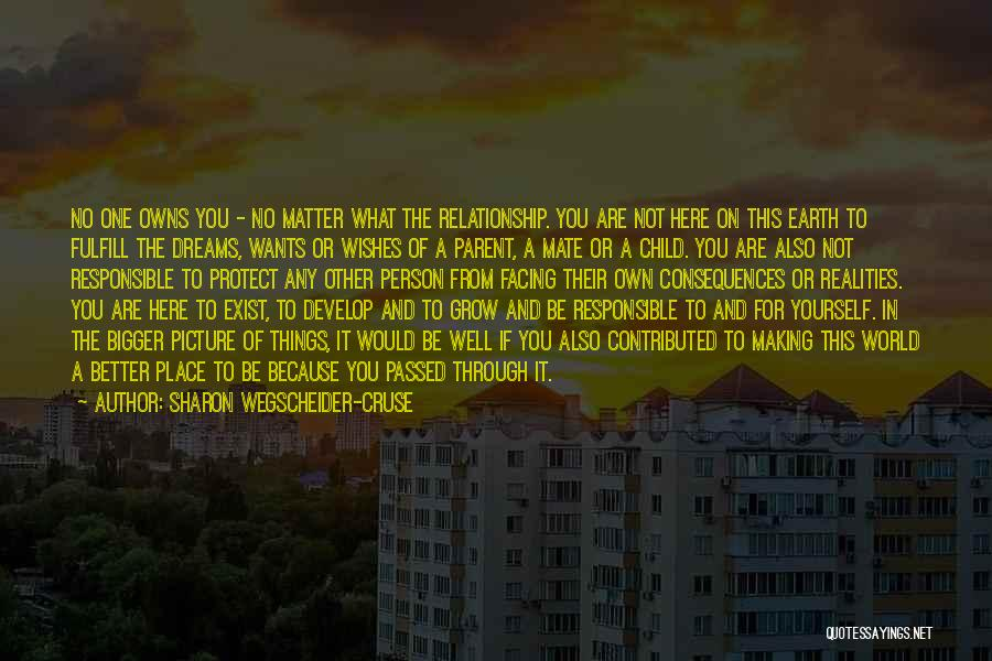 A Bigger Picture Quotes By Sharon Wegscheider-Cruse