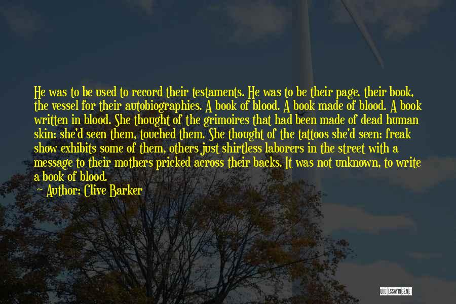 A Book Quotes By Clive Barker
