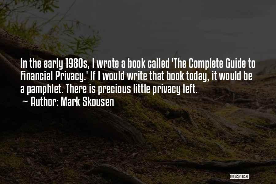 A Book Quotes By Mark Skousen