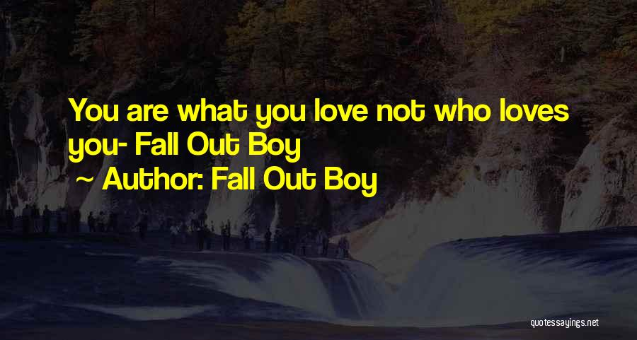 A Boy U Love Quotes By Fall Out Boy