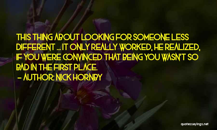 A Boy You Hate Quotes By Nick Hornby