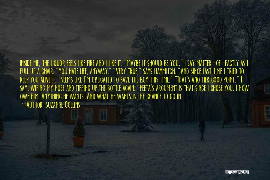 A Boy You Hate Quotes By Suzanne Collins