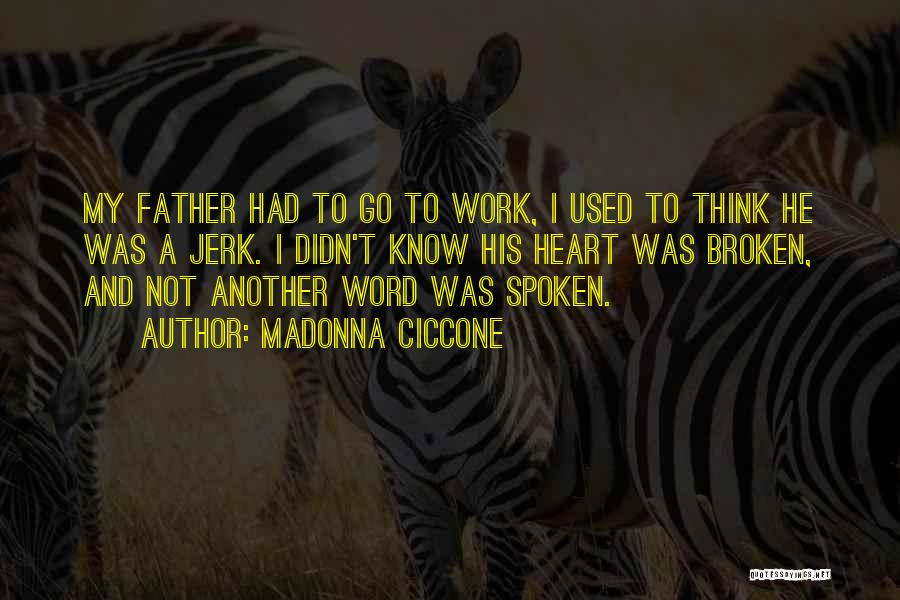 A Broken Family Quotes By Madonna Ciccone