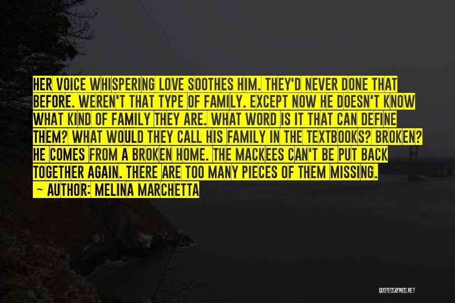 A Broken Family Quotes By Melina Marchetta