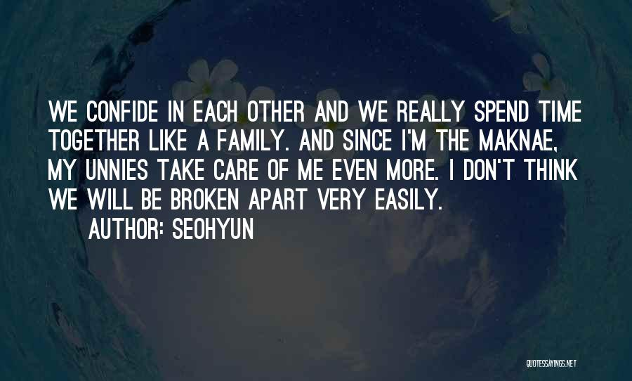 A Broken Family Quotes By Seohyun