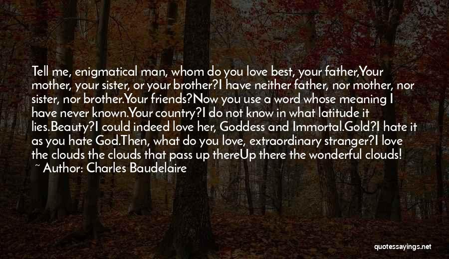 A Brother's Love For His Sister Quotes By Charles Baudelaire
