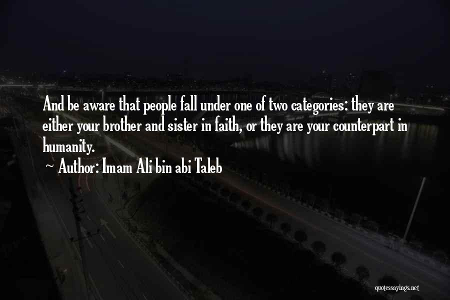 A Brother's Love For His Sister Quotes By Imam Ali Bin Abi Taleb