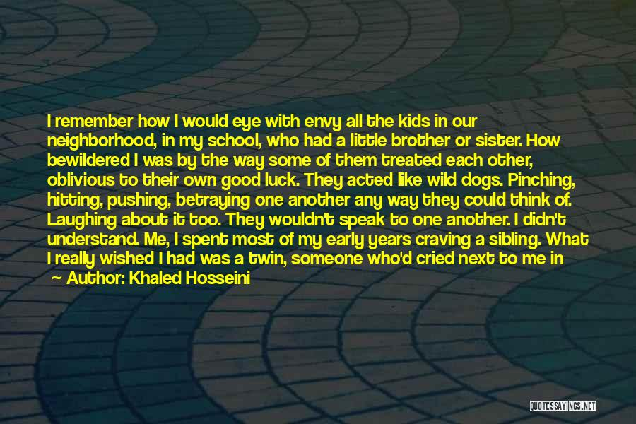 A Brother's Love For His Sister Quotes By Khaled Hosseini