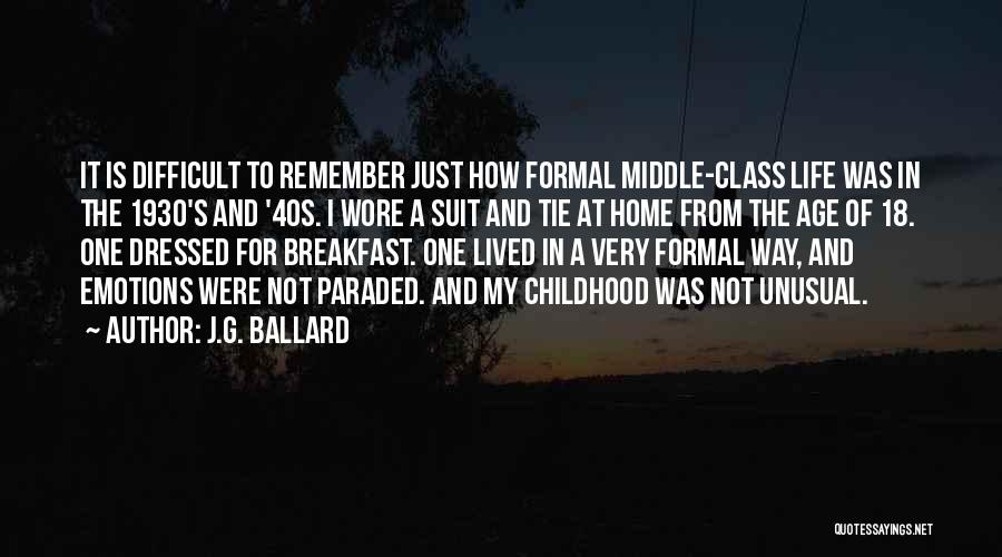 A Childhood Home Quotes By J.G. Ballard